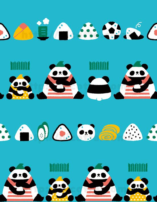 パンダ親子のおにぎり屋